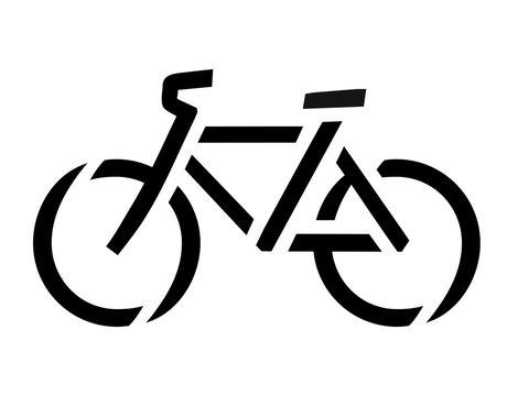 Stencil bike symbol