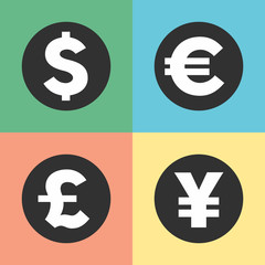 Money symbols icons
