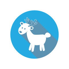 cute deer flat icon