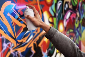In de dag Graffiti Graffiti artist