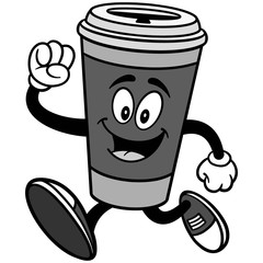 Coffee Running Illustration
