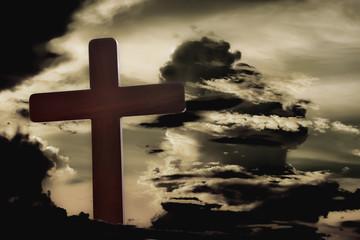 Close-up of Jesus cross
