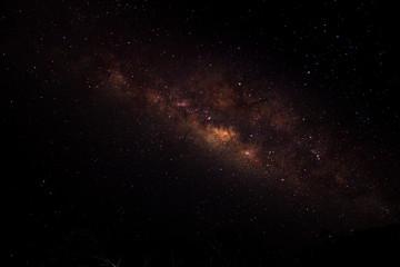 Milky way and stars in dark night