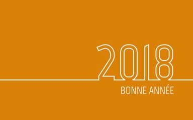 Carte de vœux 2018 - Bonne Année orange