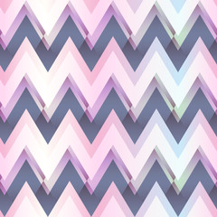 Pink color zigzag seamless pattern
