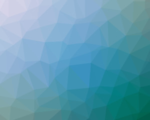 Abstract blue background in modern low poly geometric design