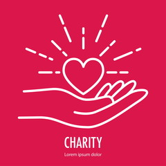 Logo template for charity