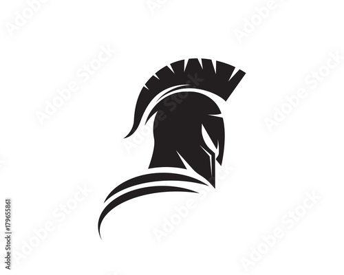 spartan helmet logo template stock image and royalty free vector