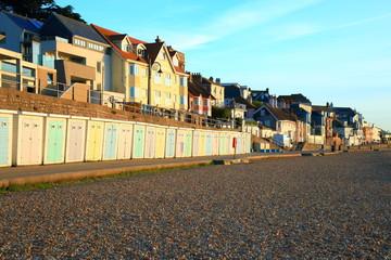 Pebble beach on Jurassic Coast in Lyme Regis, Dorset