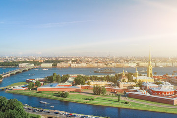 Aerial view of the Peter and Paul Fortress, St. Petersburg