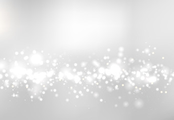 Abstract blurred soft focus bokeh of white and gray color background concept, copy space