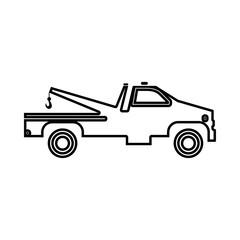 Breakdown truck black icon .