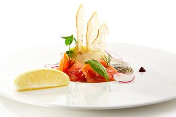 Specialties of the luxury restaurant