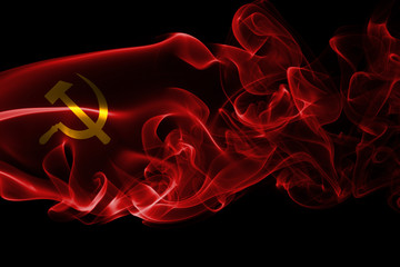 Communist national smoke flag