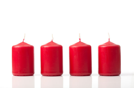 Advent candle set for Sundays before Christmas