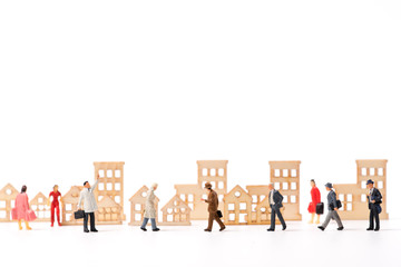 miniature people and house ,business concept
