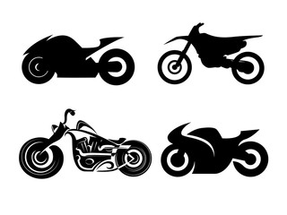 vector black motorcycles