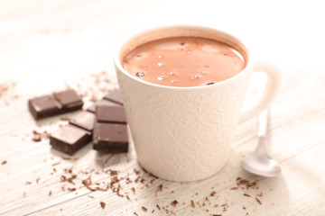 Foto op Plexiglas Chocolade hot milk with chocolate