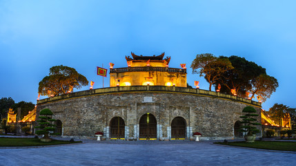 Panorama Central sector of Imperial Citadel of Thang Long,the cultural complex comprising the royal enclosure first built during the Ly Dynasty. An UNESCO World Heritage Site in Hanoi Wall mural