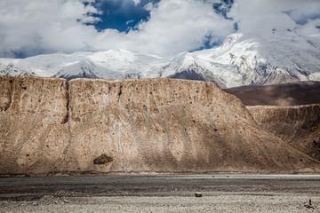 Snow Mountain in Pamir Plateau