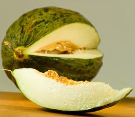 delicious ripe melon close-up