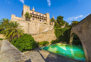 Wall Mural - Royal Palace of La Almudaina, Palma de Mallorca islands, Spain