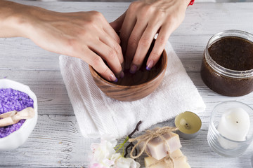 Hands Spa.Manicure concept