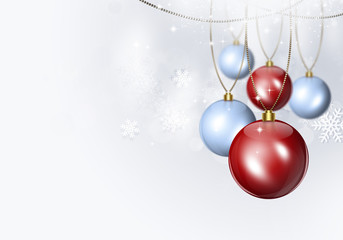 Bright Holiday Winter Background