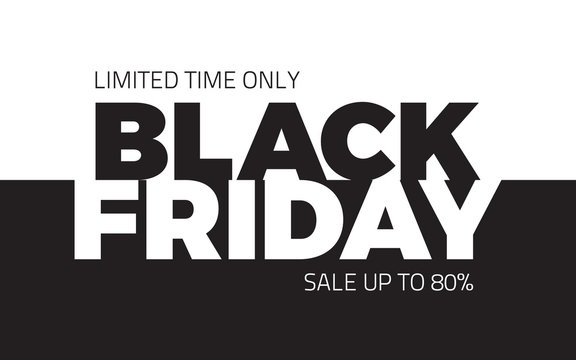 Black Friday Sale Shopping Vector Abstract Background