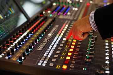 audio production console
