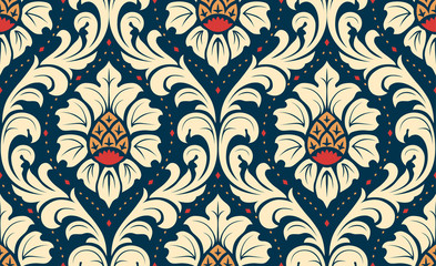 Luxury old fashioned damask ornament, royal classic seamless texture for wallpapers, textile, wrapping. Exquisite floral baroque template.