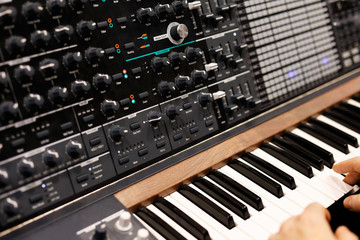 modern analog synthesizer
