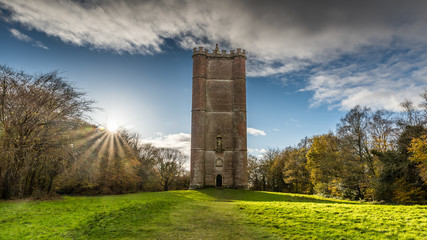 King Alfreds Tower, Stourhead Fototapete