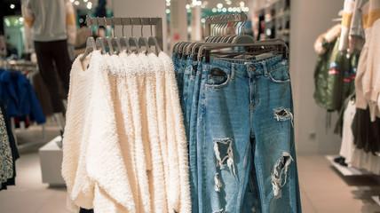 Fashionable women's clothing store
