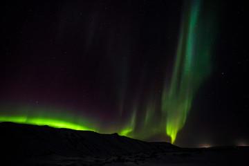 Polarlicht (Aurora borealis) über Island