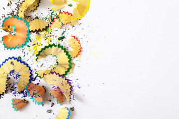 varicolored pencil shavings