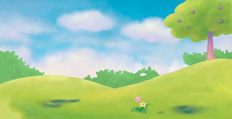 Illustration of Forest Background