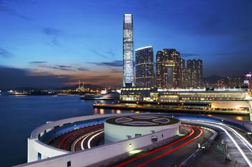 Hong Kong City at dusk