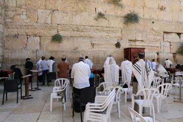Jews Praying at the Kotel (Western Wall