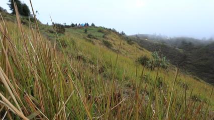 view of mount prau dieng, central jawa, indonesia