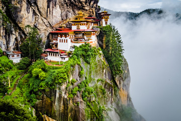 View on Tiger's nest monastery, Bhutan Fototapete
