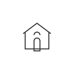 House Icon. line style vector illustration
