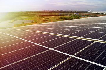 Solar PV Rooftop Beautiful Sunlight
