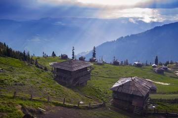 Old abandoned mountain village of shepherds