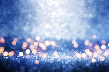 Abstract blue background with tender bokeh