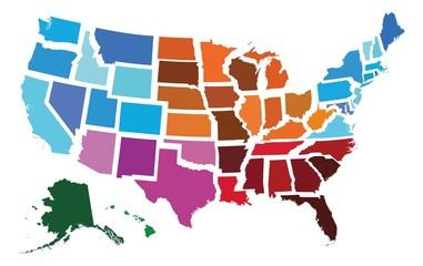 USA Administrative Regional Map