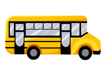 Illustration of school kids riding yellow schoolbus transportation education Vector illustration Web site page and mobile app design