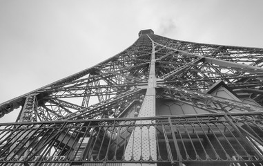 Infrared view of Eiffel Tower summit