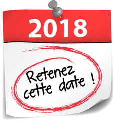 post-it almanach : retenez cette date 2018