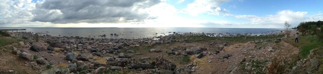 Panorama of beach at Lahemaa National Park in Estonia